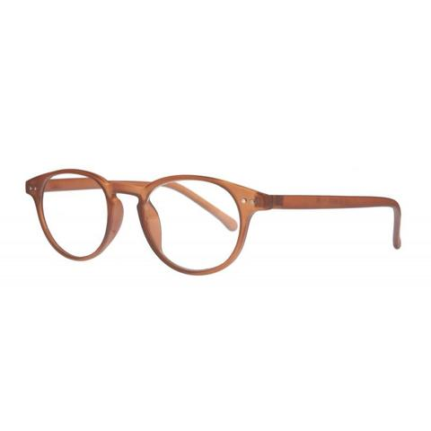 caramel classic round reading glasses