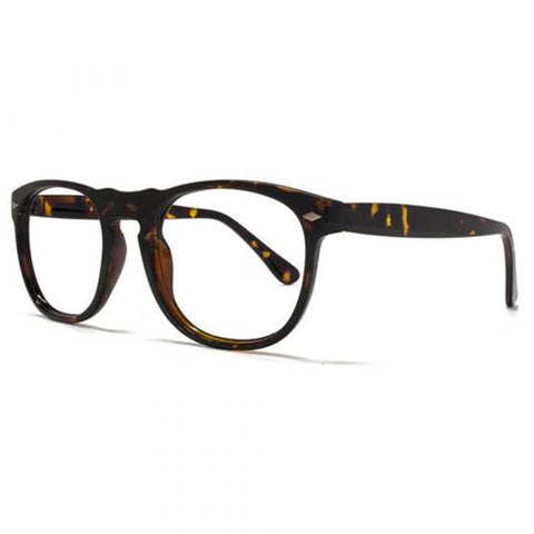 tortoiseshell round keyhole bridge reading glasses