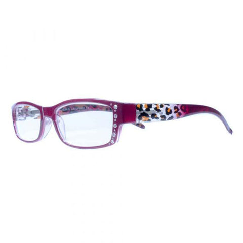 burgundy leopard reading glasses