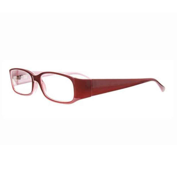 red pink half moon reading glasses
