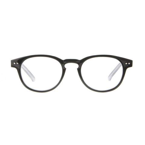 black round reading glasses
