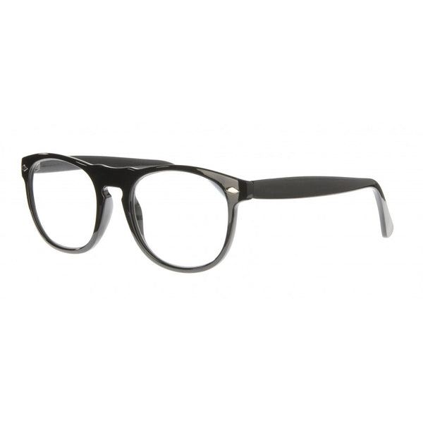 black round keyhole bridge reading glasses