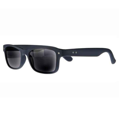 matt rubberised navy wayfarer reading sunglasses