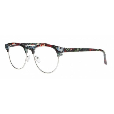 tropical print clubmaster reading glasses