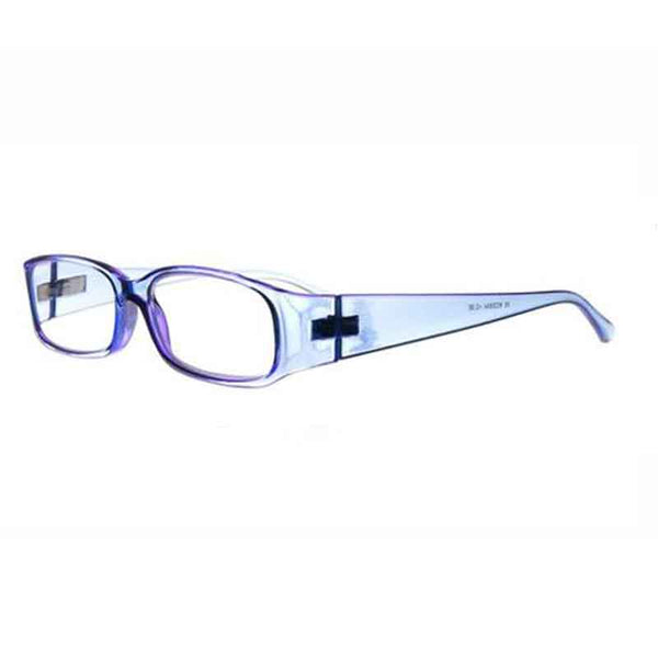 clear purple half moon reading glasses