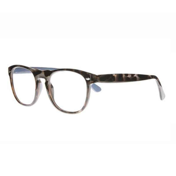dark tortoiseshell round keyhole bridge reading glasses