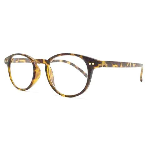 light tortoiseshell classic round reading glasses