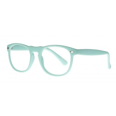 mint green round keyhole bridge reading glasses