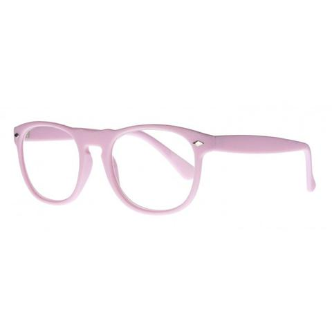 light pink round keyhole bridge reading glasses