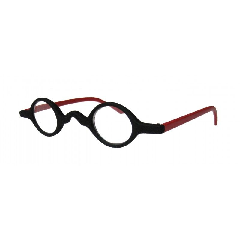 07a95af4348 Small Round Half Eye Black   Red Reading Glasses – Reading 123