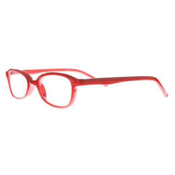 red half moon reading glasses