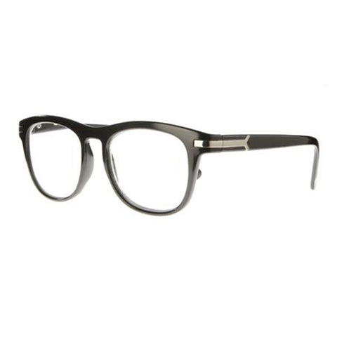 black gloss wayfarer reading glasses