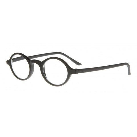 black-rubberised-vintage-round-reading-glasses
