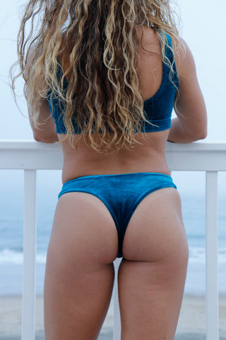 Malibu Bottoms - Teal Velvet