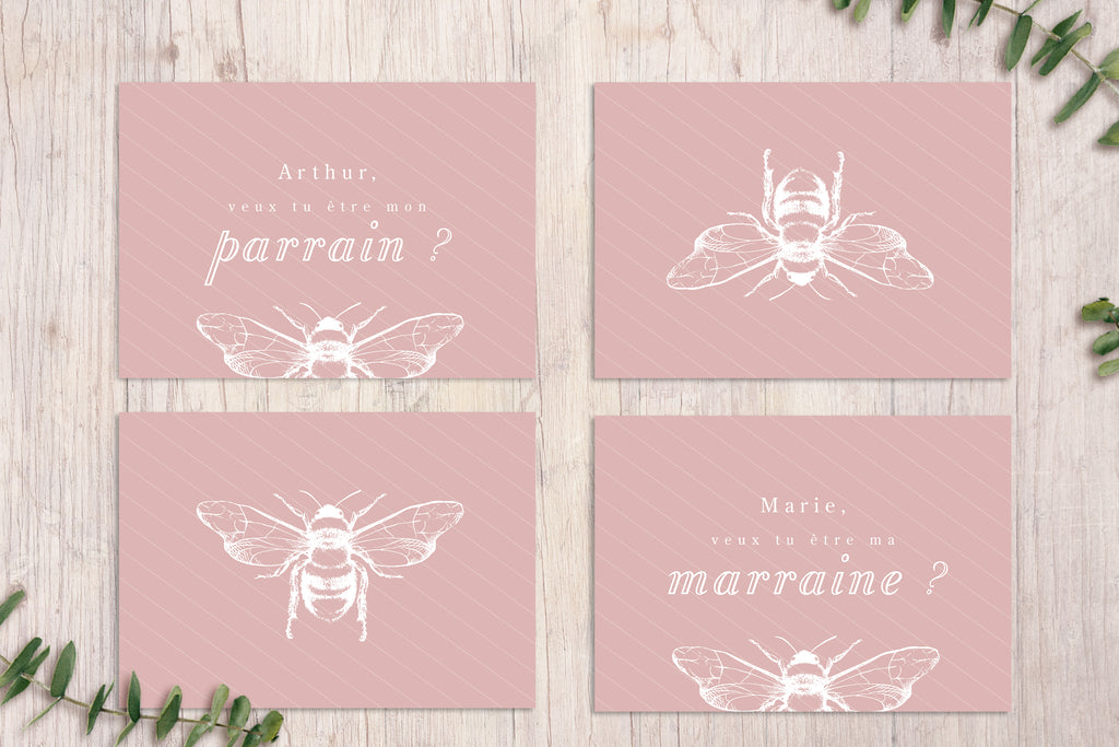 Cartes Parrain / Marraine Billie