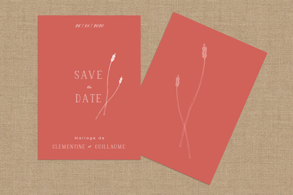 Save The Date Herbier