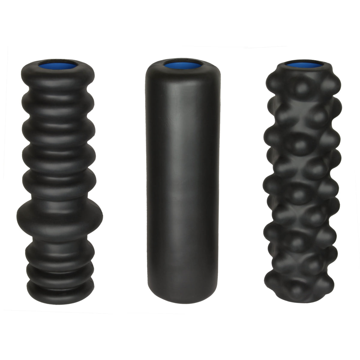 DoubleUP 3-pack of rollers LoosenUP, WarmUP, and BreakUP foam rollers
