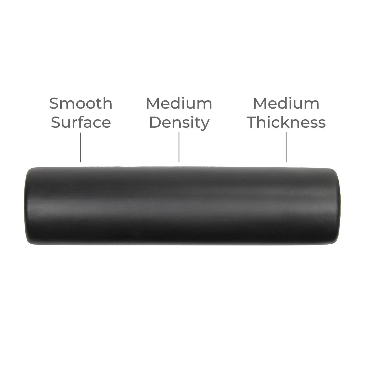TuneUP smooth medium-density foam roller for use with DoubleUP frame