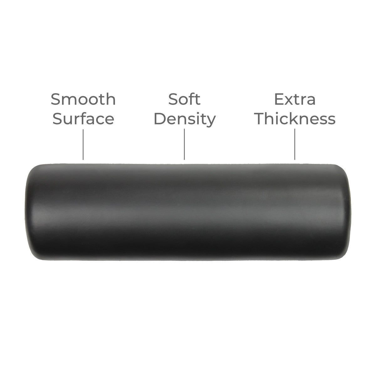 WarmUP smooth soft-density foam roller for use with DoubleUP frame