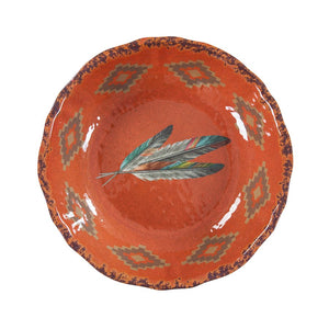 Feather Accent Melamine Serving Bowl:  Dinnerware
