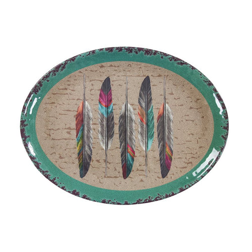 Feather Serving Platter- Dinnerware
