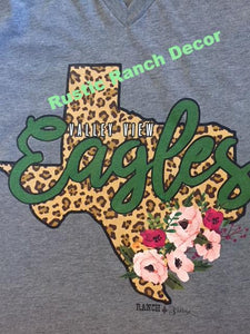 Valley View Eagles Tank Top & TShirts: Texas Leopard