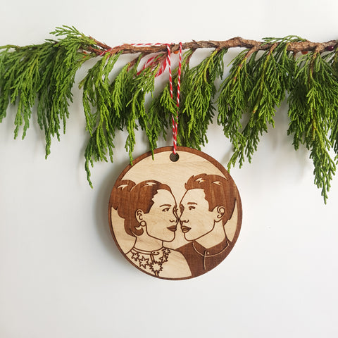 Couples Portrait Ornament