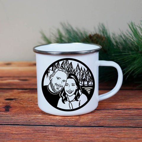 Custom Portrait Camp Mug | Salt and Paper