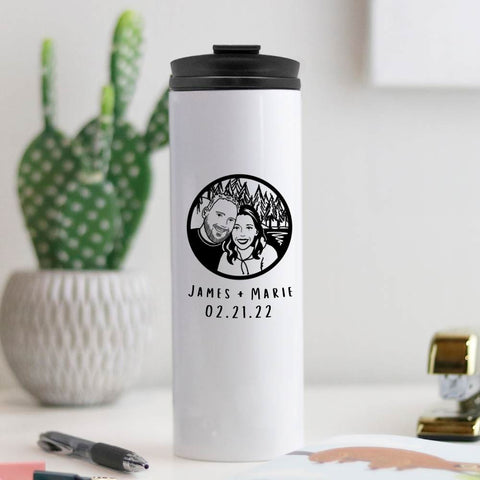 Custom Portrait Insulated Tumbler | Salt and Paper
