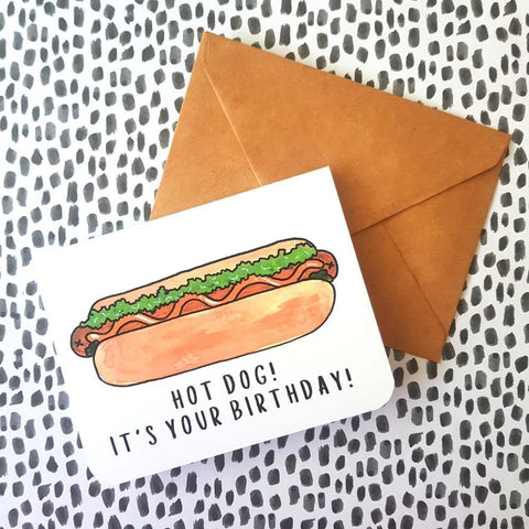 Hot Dog it's Your Birthday Card | Salt & Paper