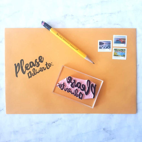 Please Deliver To Stamp | Salt & Paper