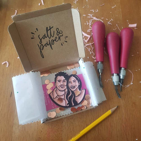 Couples Portrait Stamp | Salt & Paper