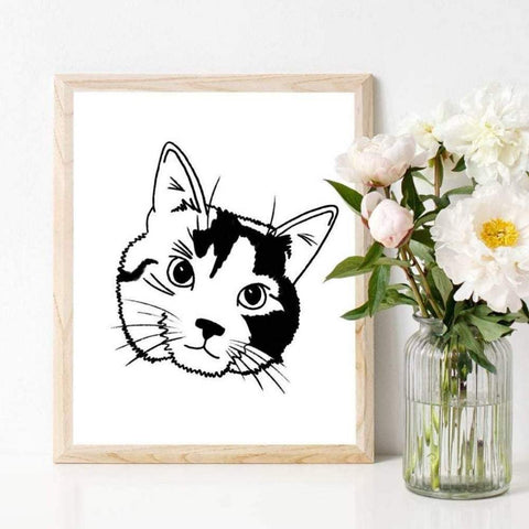 Pet Custom Portrait Print | Salt & Paper