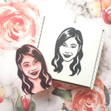Solo Portrait Stamp | Salt & Paper
