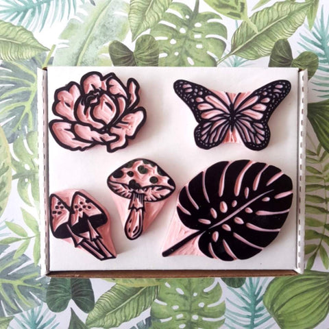 Flora and Fauna Stamp Pack - 3+ Stamps | Salt & Paper