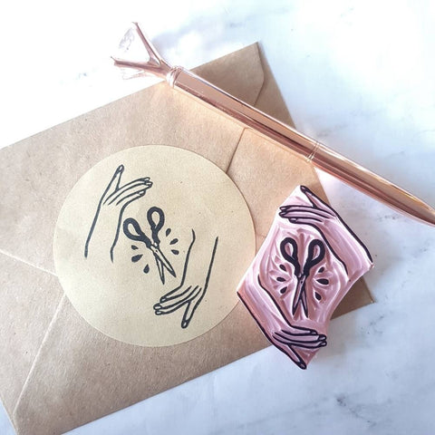 Maker Scissors Stamp - Craft and Sewing | Salt & Paper