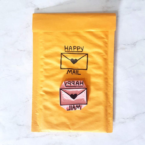 Happy Mail Stamp | Salt & Paper