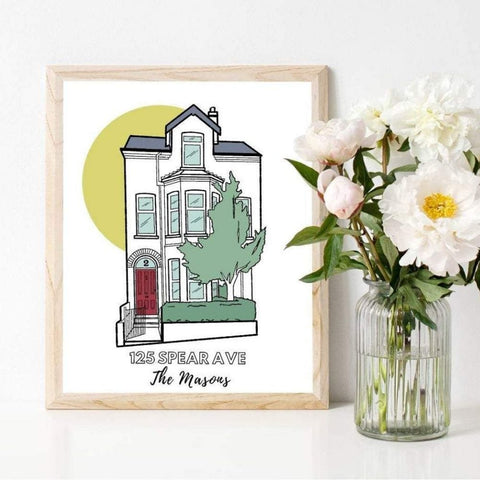 Customized House Illustration Print | Salt & Paper