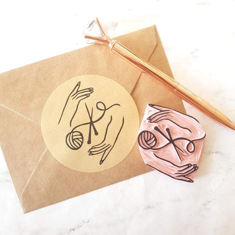 Knitting or Crochet Rubber Stamp | Salt & Paper