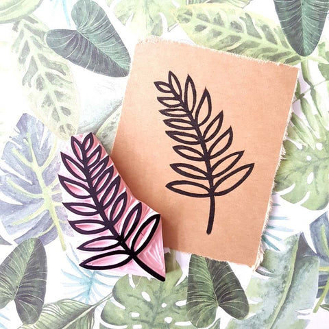 Salt & Paper | Palm Frond or Fern Rubber Stamp
