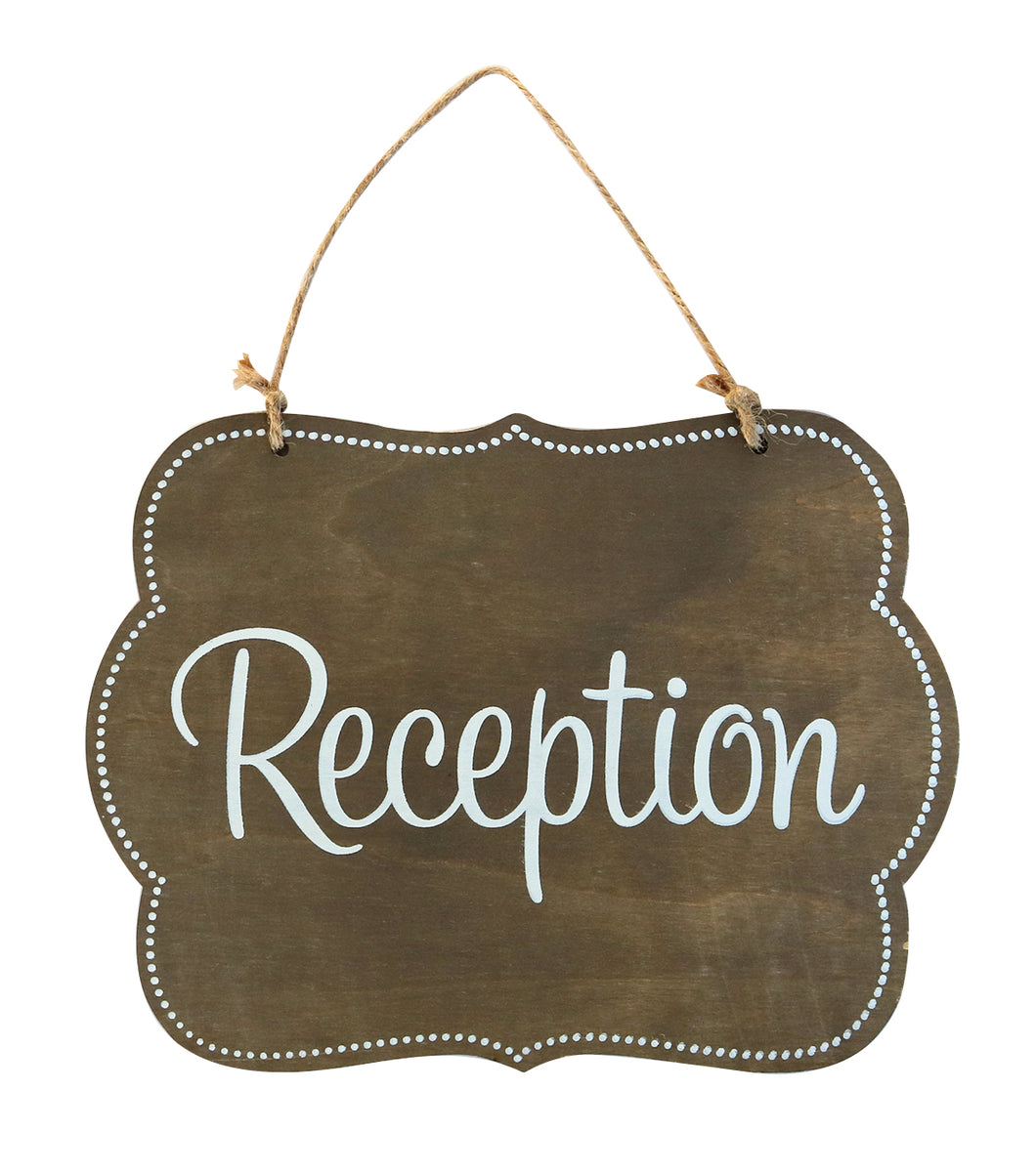 Wood Plaque with jute, Reception