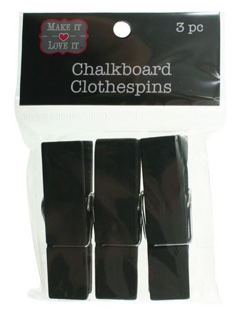 Wide Chalkboard Clothespins, 3 pc