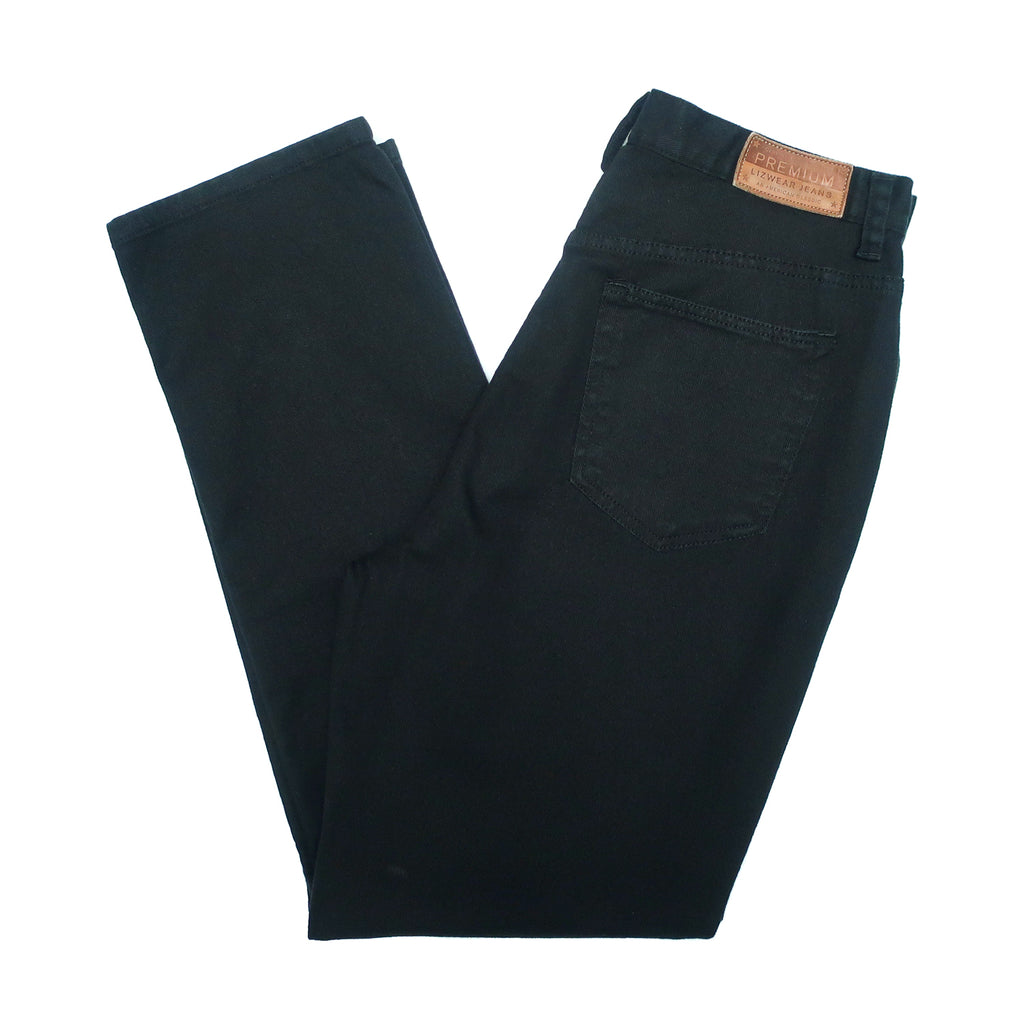 "Second Room Vintage Clothing. Vintage high waisted, black Liz Claiborne mom jeans, with five pockets, zipper fly and button, 11.5"" rise and 7.5"" ankle opening. Free North American shipping on all orders."
