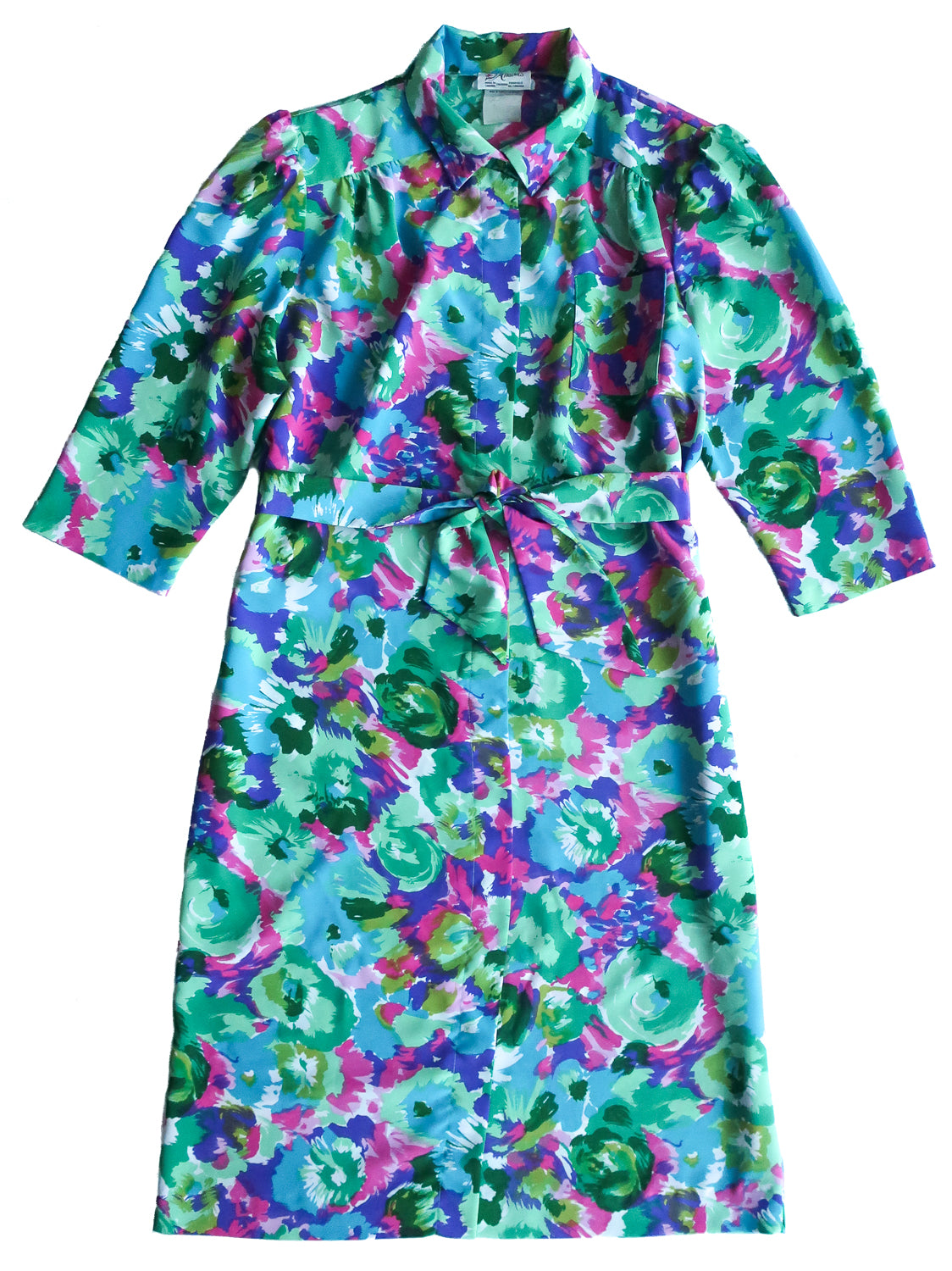 Vintage D'Allairds Floral Shirt Dress