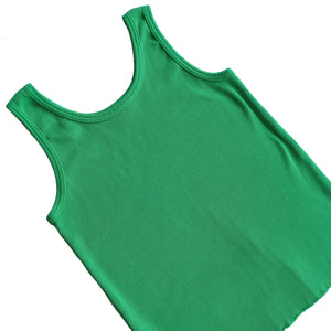 Second Room Vintage Clothing. Vintage bright green ribbed stretchy tank top, with scoop neck. Free Shipping on all orders within North America.