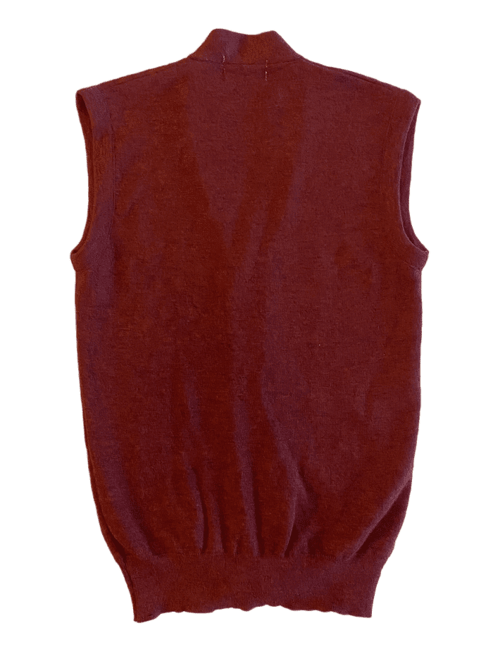 Second Room Vintage Clothing. This vintage sweater vest is in a beautiful deep burgundy color, and is perfect for fall and winter. It is a button up cardigan style, with two front pockets. Free Shipping on all orders within North America.