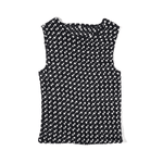 Second Room Vintage Clothing. Vintage 90s black and white polka dot micro pleated tank. Super stretchy! Free Shipping on all orders within North America.
