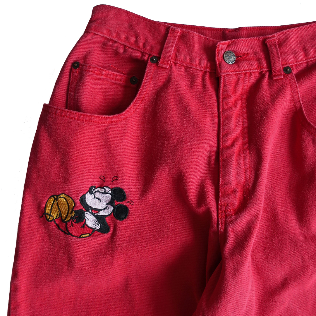 Shop vintage, shop sustainable. Vintage 90s Disney Mickey Mouse Mom Jeans