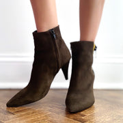 Roxie Military Suede Bootie Shoe