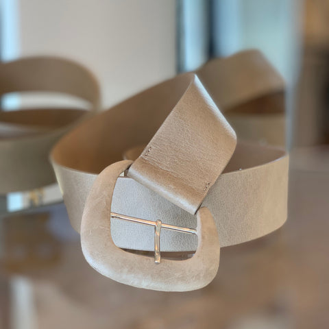 Wide Taupe Belt